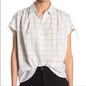 Madewell Central Tie-Sleeve Windowpane XXL #H8286